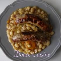 Haricots blancs et saucisses de Toulouse