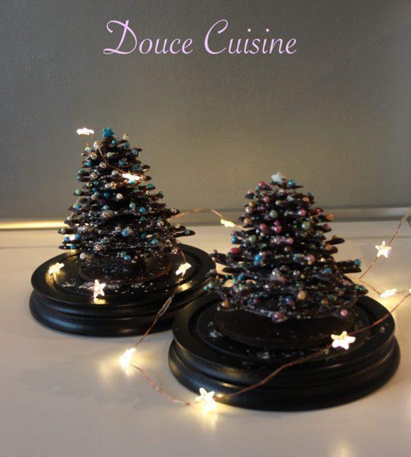 Sapins de Noël en chocolat