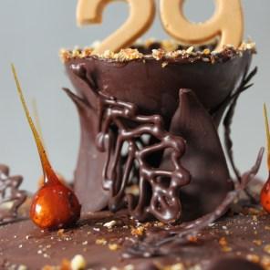 Gâteau d'automne tout chocolat.
