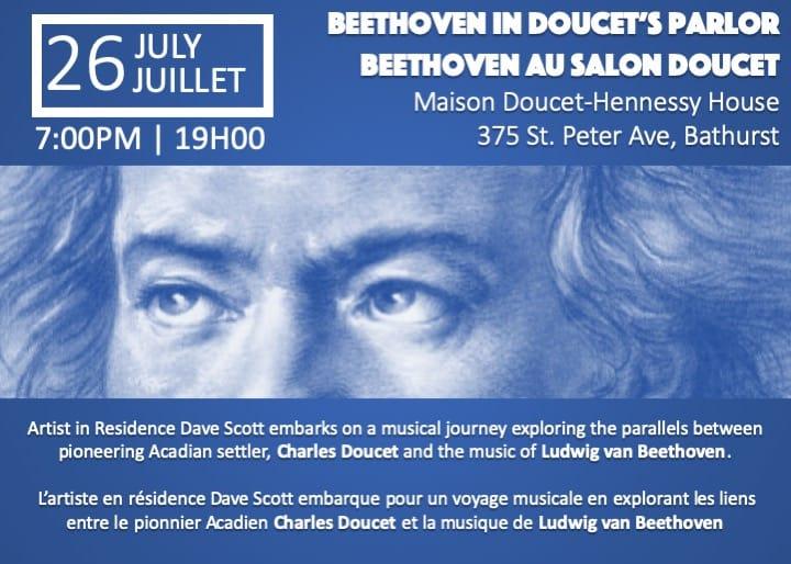July 26, 2019 / le 26 juillet 2019: Beethoven in Doucet's Parlour / Beehhoven au Salon Doucet