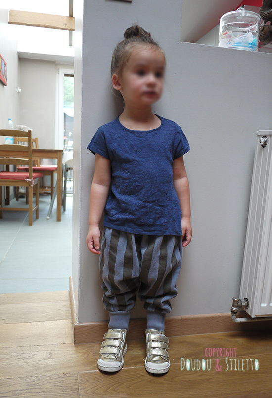 T-shirt Zara, sarouel Bobo Choses, chaussures 10is