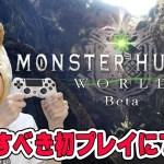 【モンハン:ワールド】ベータテスト版β狩猟解禁!感動の嵐!【MONSTERHUNTER:WORLD】