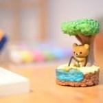 Rilakkuma Re-ment Miniatures stopmotionかわいいテラリウムの作り方-リーメント・はちみつの森のテラリウム-