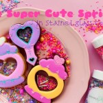 【 The Super cute sprinkles in Stained glass cookies 】可愛いスプリンクル入りステンドグラスクッキー
