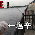 【若洲海浜公園】イカの塩辛で魚は釣れるのか?驚きの検証結果に…【2018.06.21】