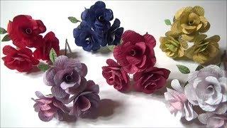 (ペーパーフラワー)簡単!かわいい!ミニ薔薇の作り方【DIY】(Paper Flower) Easy! Tiny! How to make mini roses