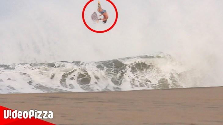 半端ないって!吹っ飛びすぎや!海で起きた衝撃ハプニング【Video Pizza】