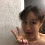 夜中のシャワーライブ☆最後ハプニング?