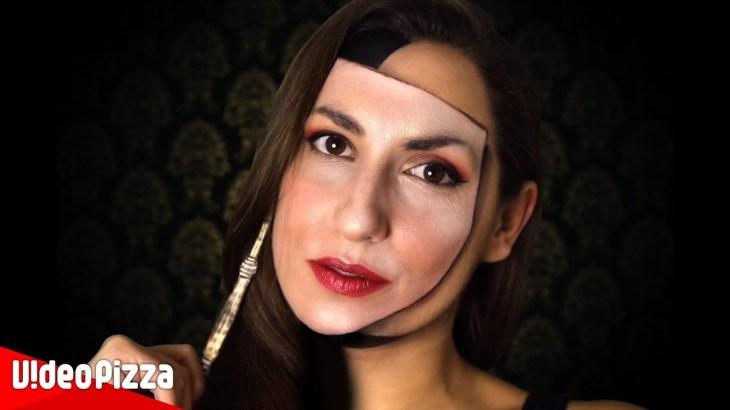 【錯覚】マスクのように見える顔面トリックアートがすごい!【Video Pizza】