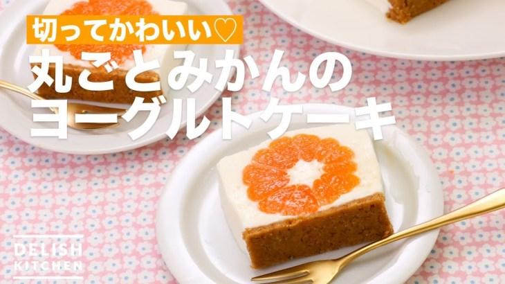 切ってかわいい♡丸ごとみかんのヨーグルトケーキ | How To Make Whole Mandarin oranges Yogurt cake