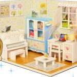 【手作りハウス♡】みきちゃんまきちゃんが可愛いドールハウスをDIY♪キッドを使って上手にできるかな?miniature doll house diy
