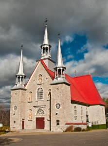 Sainte-Famille was built in 1743 on the Ile d'Orleans, Quebec