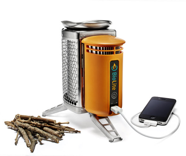 Portable wood stove and portable power supply– all-in-one