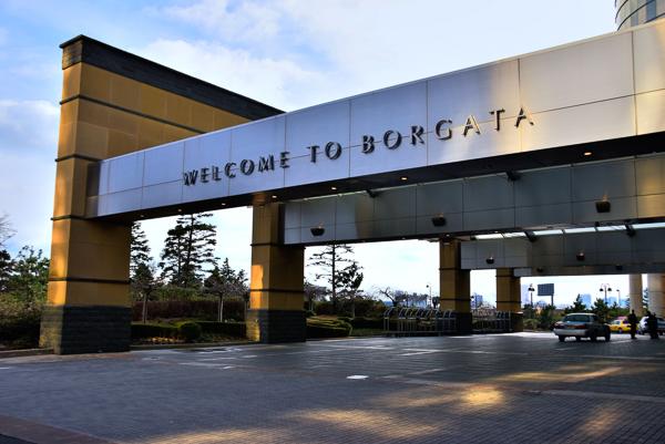 Borgata Hotel entry canopy