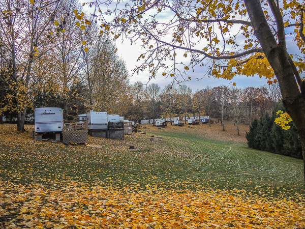 Trailers at Bear Run Campground