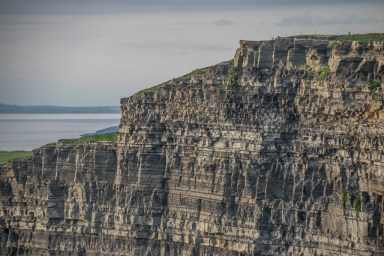 Centuries of erosion formed the Cliffs of Moher( looking north)