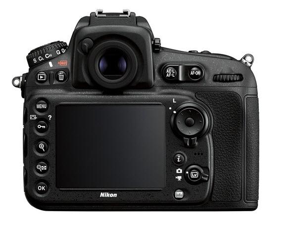 Nikon D810 rear