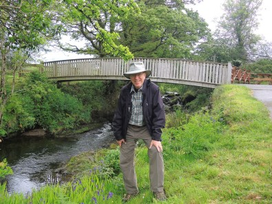 Doug in front of the Manager's Bridge