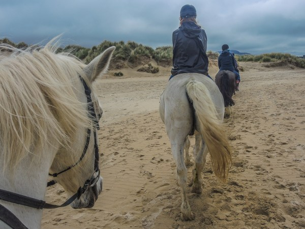 Riding on the beach at Dunfanaghy