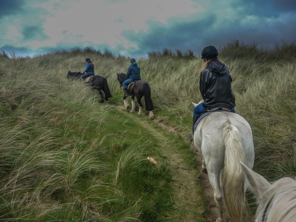 Riding through the dunes at Dunfanaghy Stables