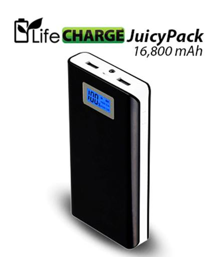 16,800 mAh Battery Pack – keeps going and going