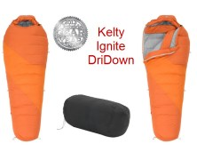 Kelty Ignite DriDown 0 sleeping bag perfect for winter camping