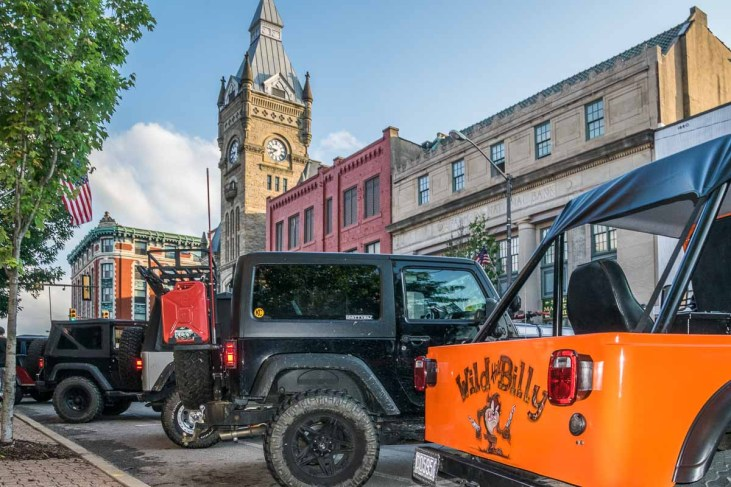 1,200 Jeeps lined Main Street in downtown Butler, PA