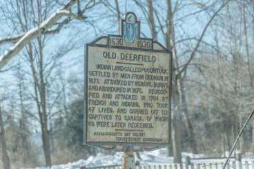 Historic Deerfield landmark sign