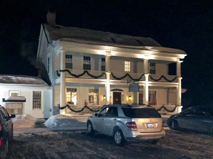 Deerfield Inn at night