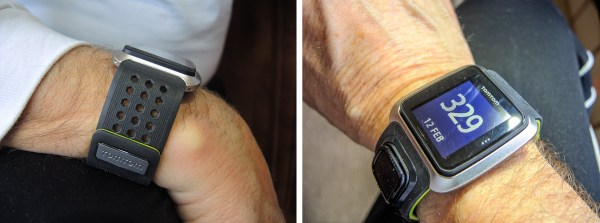 Two views of Tom Tom Golf watch