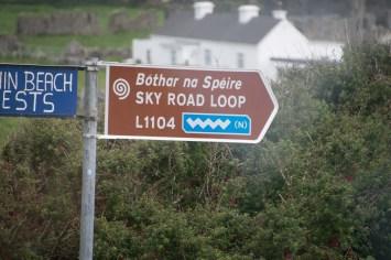Sky Road Loop sign