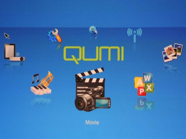 Qumi media selector screen
