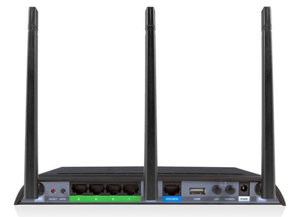 Amped Wireless AC1750 (RTA1750) rear view