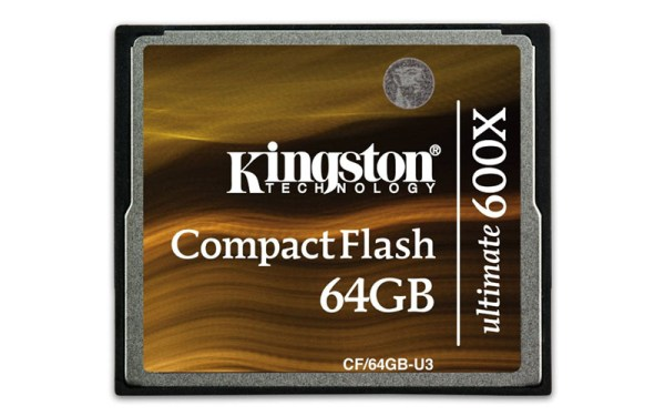 Kingston Ultimate 600X compact flash card