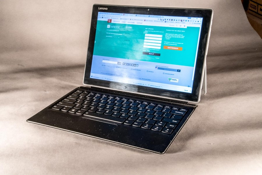 Miix510 being used as a laptop