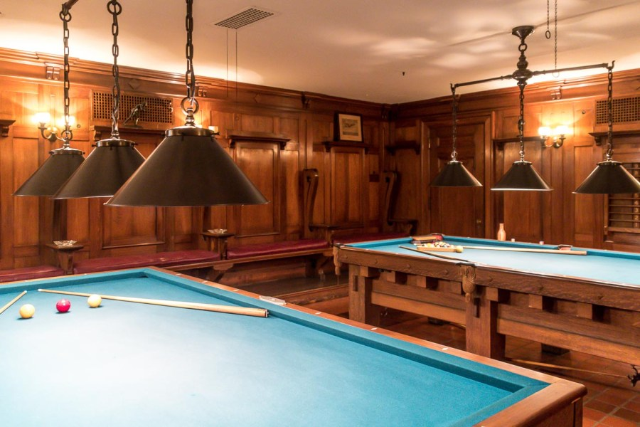 Billiard room at Nemours Mansion and Estate
