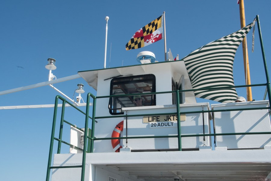 Wheelhouse of the Oxford-Bellevue Ferry