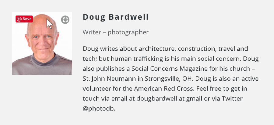 Author bio for Doug Bardwell