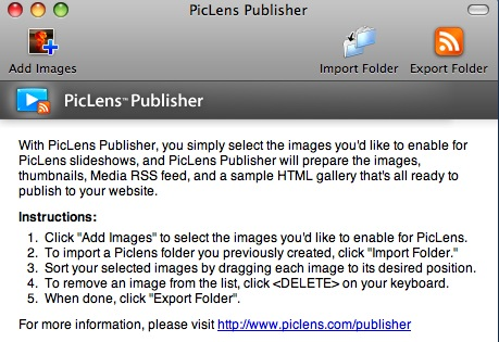 PicLens Publisher