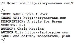 Brynn - blog CSS