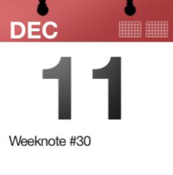 Weeknote #30