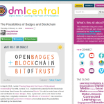 The Possibilities of Badges and Blockchain [DML Central]