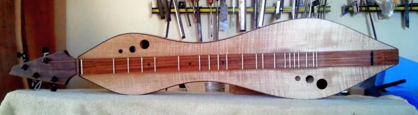 Dulcimer #143 by Doug Berch - curly maple - front