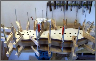 Gluing on a soundboard