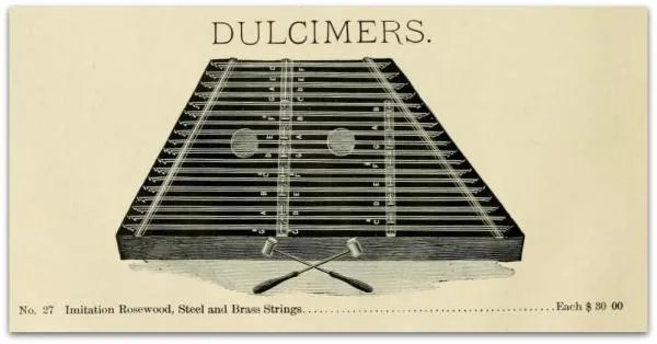 Hammered dulcimer - imitation rosewood, steel and brass strings - $30.00