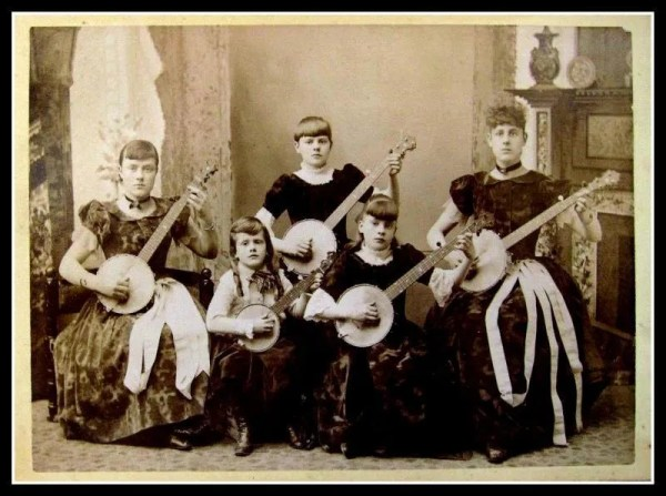 Five Ladies Playing Banjo