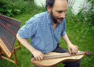 Doug Berch with hammered and mountain dulcimer