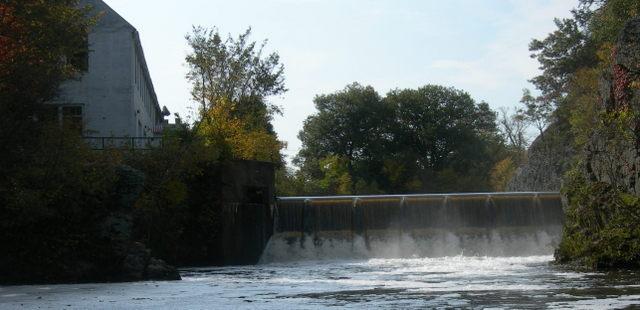 Silk Mill Dam in Hemlock Gorge