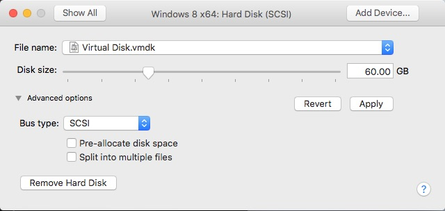 Customize Settings - Adjust Hard Disk