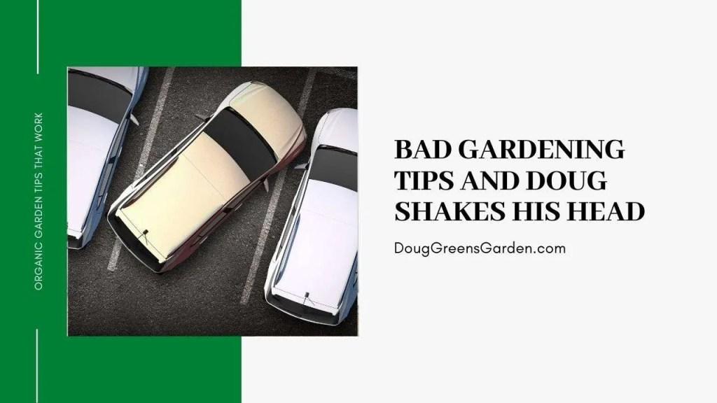 bad gardening tips
